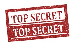 Rubber stamp Top Secret royalty free stock images