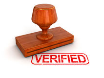 Rubber Stamp Verified  (clipping path included) Stock Photo