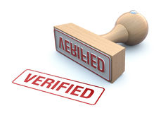 Rubber stamp-verified Royalty Free Stock Photos