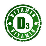 Rubber stamp with vitamin D3 Stock Image