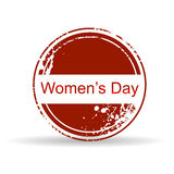 Rubber stamp for Womens Day. Royalty Free Stock Photo