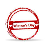 Rubber stamp for Womens Day. Royalty Free Stock Photography