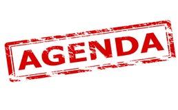 Agenda. Rubber stamp with word agenda inside,  illustration Stock Photo