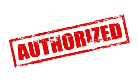 Authorized. Rubber stamp with word authorized inside, illustration royalty free illustration