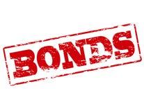 Bonds. Rubber stamp with word bonds inside,  illustration Royalty Free Stock Image