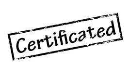 Certificated. Rubber stamp with word certificated inside,  illustration Stock Images