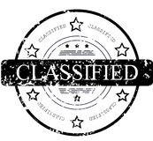 Rubber stamp word classified Stock Photo