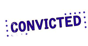 Convicted. Rubber stamp with word convicted inside,  illustration Royalty Free Stock Image