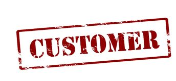 Customer. Rubber stamp with word customer inside,  illustration Royalty Free Stock Image