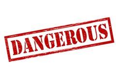 Dangerous. Rubber stamp with word dangerous inside, illustration royalty free illustration