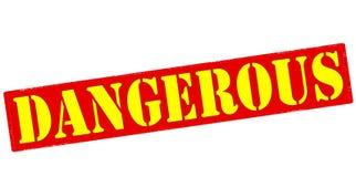Dangerous. Rubber stamp with word dangerous inside, illustration stock illustration
