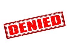 Denied. Rubber stamp with word denied inside,  illustration Stock Image