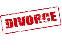 Divorce. Rubber stamp with word divorce inside,  illustration Royalty Free Stock Photos