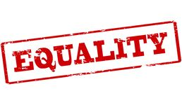 Equality. Rubber stamp with word equality inside,  illustration Stock Images