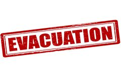 Evacuation. Rubber stamp with word evacuation inside,  illustration Stock Images