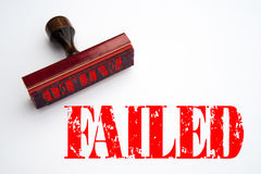 Rubber stamp with the word FAILED Royalty Free Stock Photos