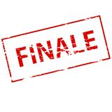 Finale. Rubber stamp with word finale inside,  illustration Stock Photography