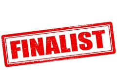 Finalist. Rubber stamp with word finalist inside,  illustration Stock Images
