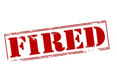 Fired. Rubber stamp with word fired inside,  illustration Stock Photography