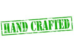 Handcrafted. Rubber stamp with word handcrafted inside,  illustration Royalty Free Stock Photos
