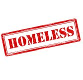 Homeless. Rubber stamp with word homeless inside,  illustration Royalty Free Stock Image