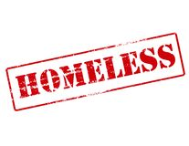 Homeless. Rubber stamp with word homeless inside,  illustration Stock Image