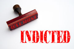 Rubber stamp with the word INDICTED Stock Images