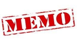 Memo. Rubber stamp with word memo inside, illustration stock illustration
