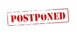 Postponed stock photos