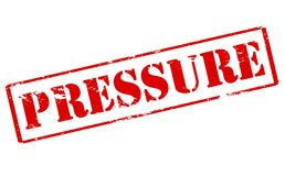 Pressure. Rubber stamp with word pressure inside,  illustration Royalty Free Stock Photo