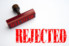Rubber stamp with the word REJECTED Stock Photography