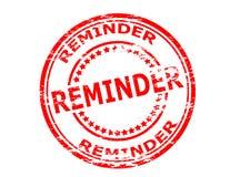 Reminder. Rubber stamp with word reminder inside,  illustration Royalty Free Stock Images