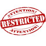 Restricted. Rubber stamp with word restricted inside,  illustration Stock Photography