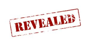 Revealed. Rubber stamp with word revealed inside,  illustration Royalty Free Stock Photo