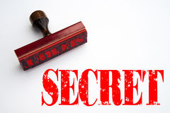 Rubber stamp with the word SECRET Royalty Free Stock Images