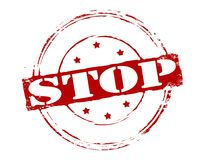 Stop. Rubber stamp with word stop inside,  illustration Stock Photos