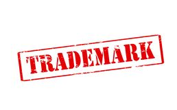 Trademark. Rubber stamp with word trademark inside,  illustration Royalty Free Stock Photography