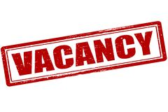 Vacancy. Rubber stamp with word vacancy inside,  illustration Stock Photography