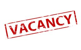 Vacancy. Rubber stamp with word vacancy inside,  illustration Royalty Free Stock Photos
