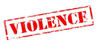 Violence. Rubber stamp with word violence inside, vector illustration Royalty Free Stock Photo