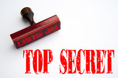 Rubber stamp with the words TOP SECRET Stock Image