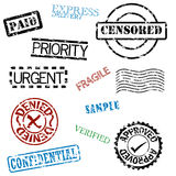 Rubber stamps. A set of rubber stamps royalty free illustration
