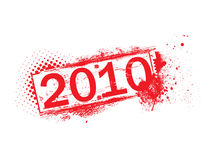 Rubber stamps. New year 2010 grunge icon,vector rubber stamps Royalty Free Stock Photography
