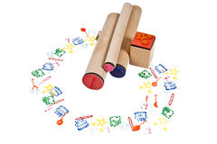 Rubber stamps Royalty Free Stock Images