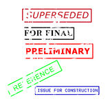 Rubber Stamps Royalty Free Stock Photography
