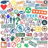 Rubber stamps Stock Image