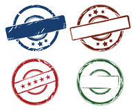 Rubber stamps royalty free illustration