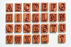 Rubber stamps - Alphabet Stock Images