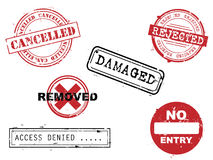 Rubber stamps collection Stock Photo