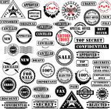 Rubber stamps collection. Collection of rubber stamps. See other rubber stamp collections in my portfolio Royalty Free Stock Photos